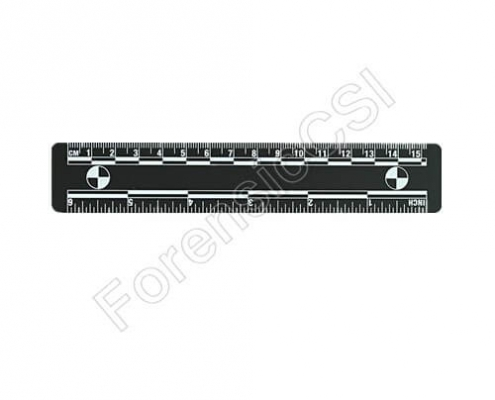 Black Magnetic Photo Ruler 15cm 6 inch