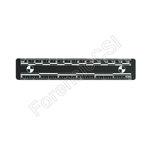Black Magnetic Photo Ruler 15cm 6 inch