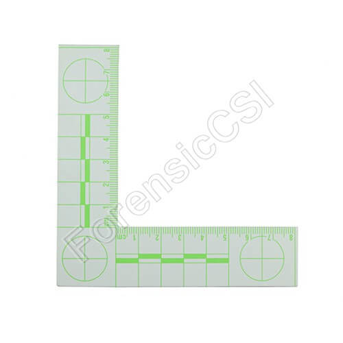 Green Fluorescent L-shaped Ruler 8x8cm