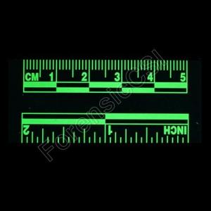 Green Fluorescent Ruler Fluorescing 5cm 2 inch