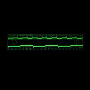 Green Fluorescent rulers Fluorescing 15cm 6 inch