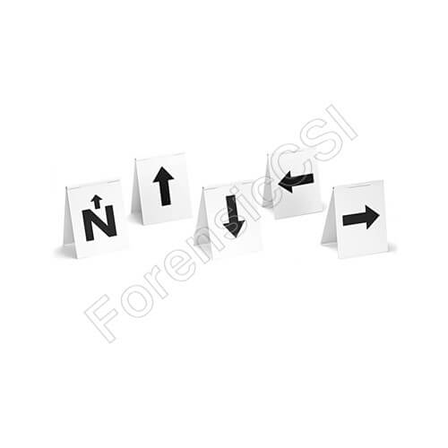 Hinged Evidence Markers with Arrows