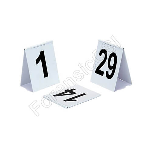 Hinged Evidence Markers with Black Numbers