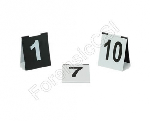 Hinged Evidence Markers with Numbers