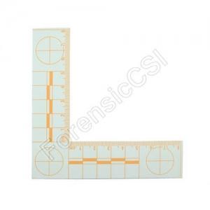 Orange Fluorescent L-shaped Ruler 8x8cm
