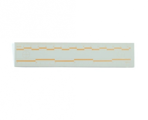 Orange Fluorescent Rulers 15cm 6 inch
