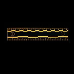Orange Fluorescent rulers Fluorescing 15cm 6 inch