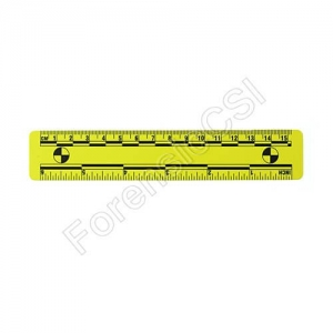 Yellow Magnetic Photo Ruler 15cm 6 inch