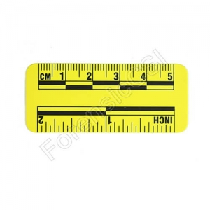 Yellow Magnetic Photo Ruler 5cm 2 inch