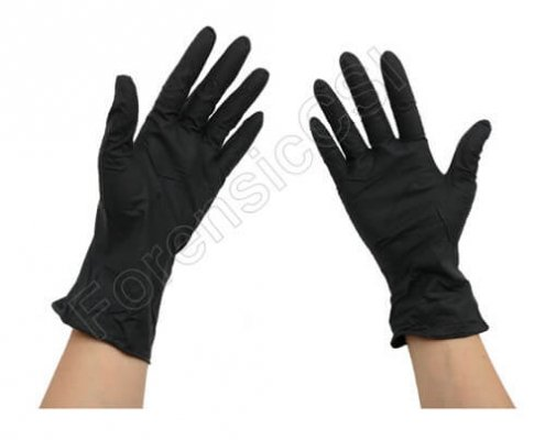 Forensic Black Nitrile Gloves