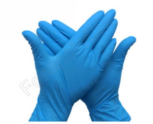 Forensic Blue Nitrile Gloves