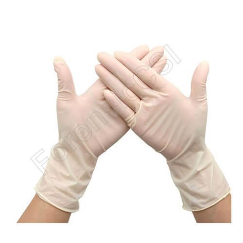 Forensic White Nitrile Gloves