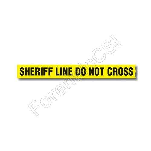 Sheriff Line Do Not Cross Barrier Tape