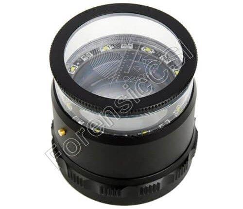 Fingerprint Magnifier 10X LED Scale Loupe
