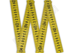 5-Part Folding Photo Ruler 1m Yellow
