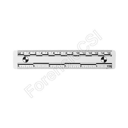 Wihte Photo Ruler 15cm 6 inch